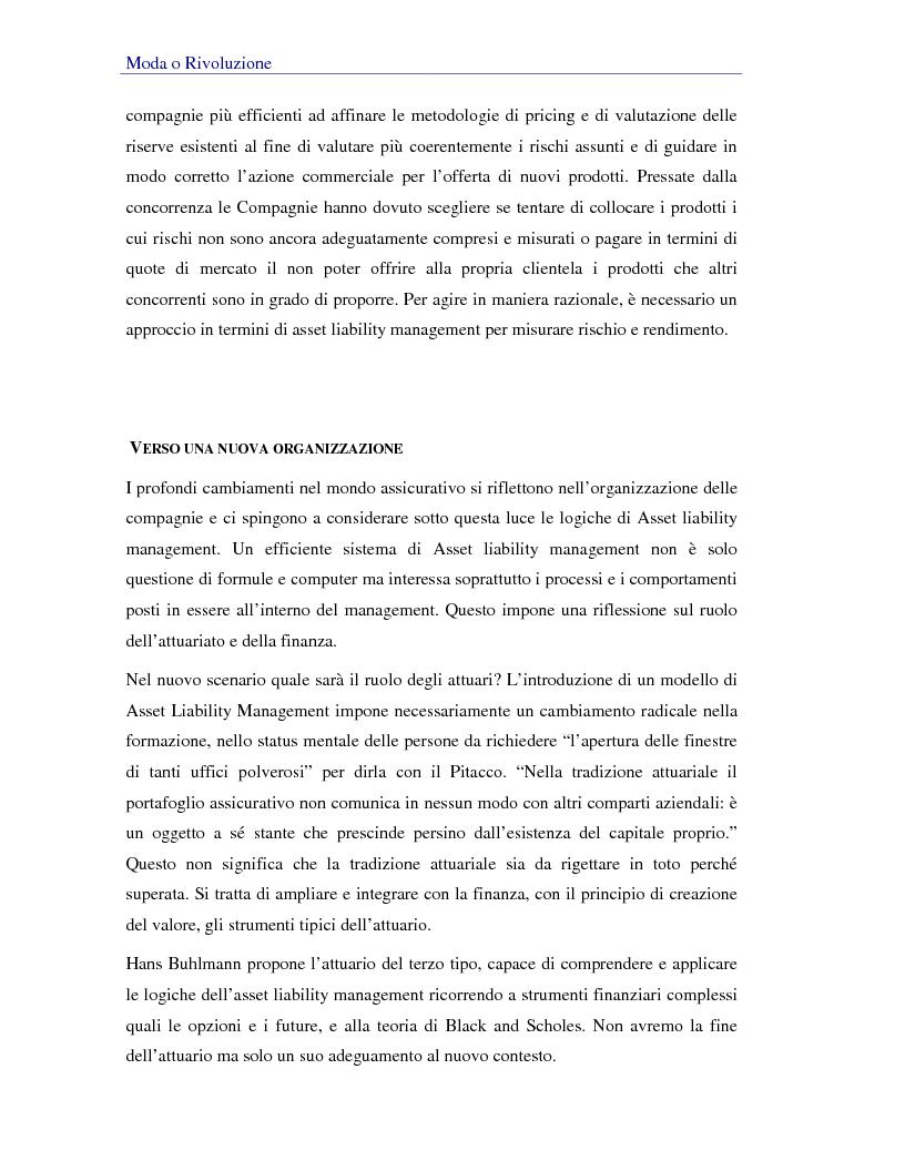 Anteprima della tesi: Asset liability management per le compagnie di assicurazione sulla vita. Un caso operativo, Pagina 8