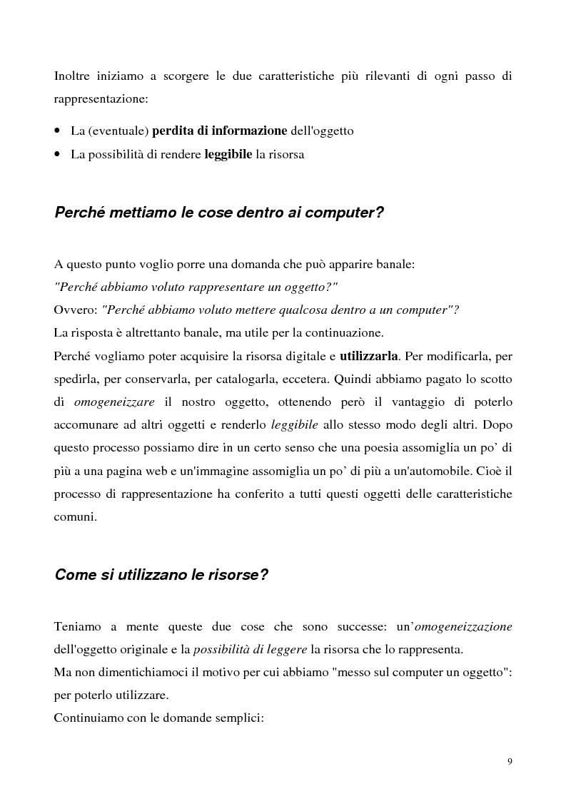 Anteprima della tesi: Metaweb: Motore di ricerca e navigazione ''semantica'' nel meta-universo delle descrizioni delle risorse - Definizione del modello formale e implementazione di un prototipo in Java e XML, Pagina 4