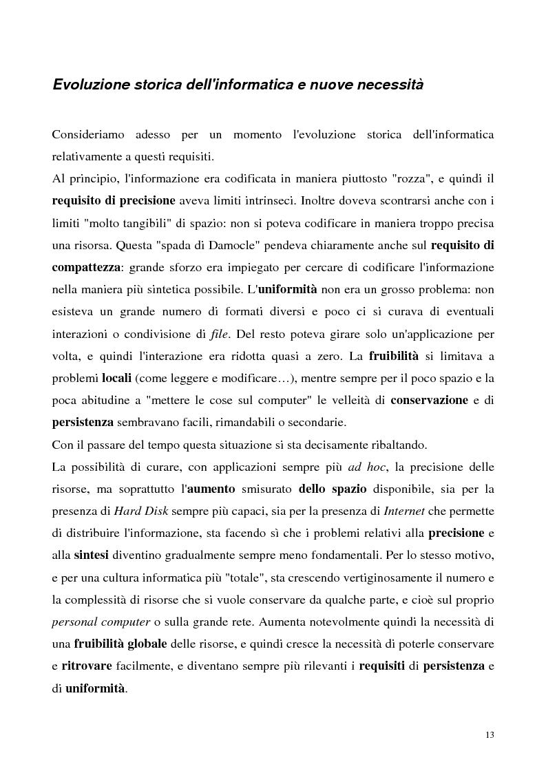 Anteprima della tesi: Metaweb: Motore di ricerca e navigazione ''semantica'' nel meta-universo delle descrizioni delle risorse - Definizione del modello formale e implementazione di un prototipo in Java e XML, Pagina 8