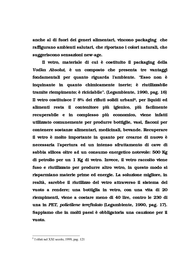 Anteprima della tesi: La pubblicità del packaging: il caso della Vodka Absolut, Pagina 15