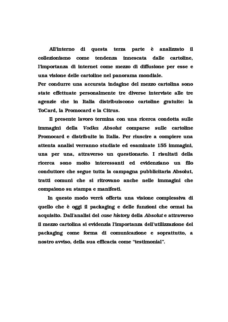 Anteprima della tesi: La pubblicità del packaging: il caso della Vodka Absolut, Pagina 3