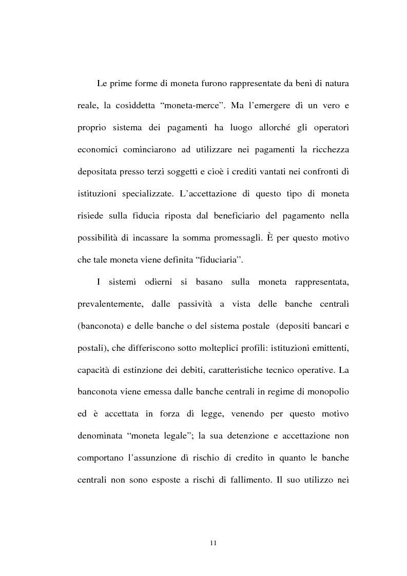 Anteprima della tesi: L'integrazione tra il sistema bancario e il sistema postale nell'offerta di servizi di pagamento, Pagina 6
