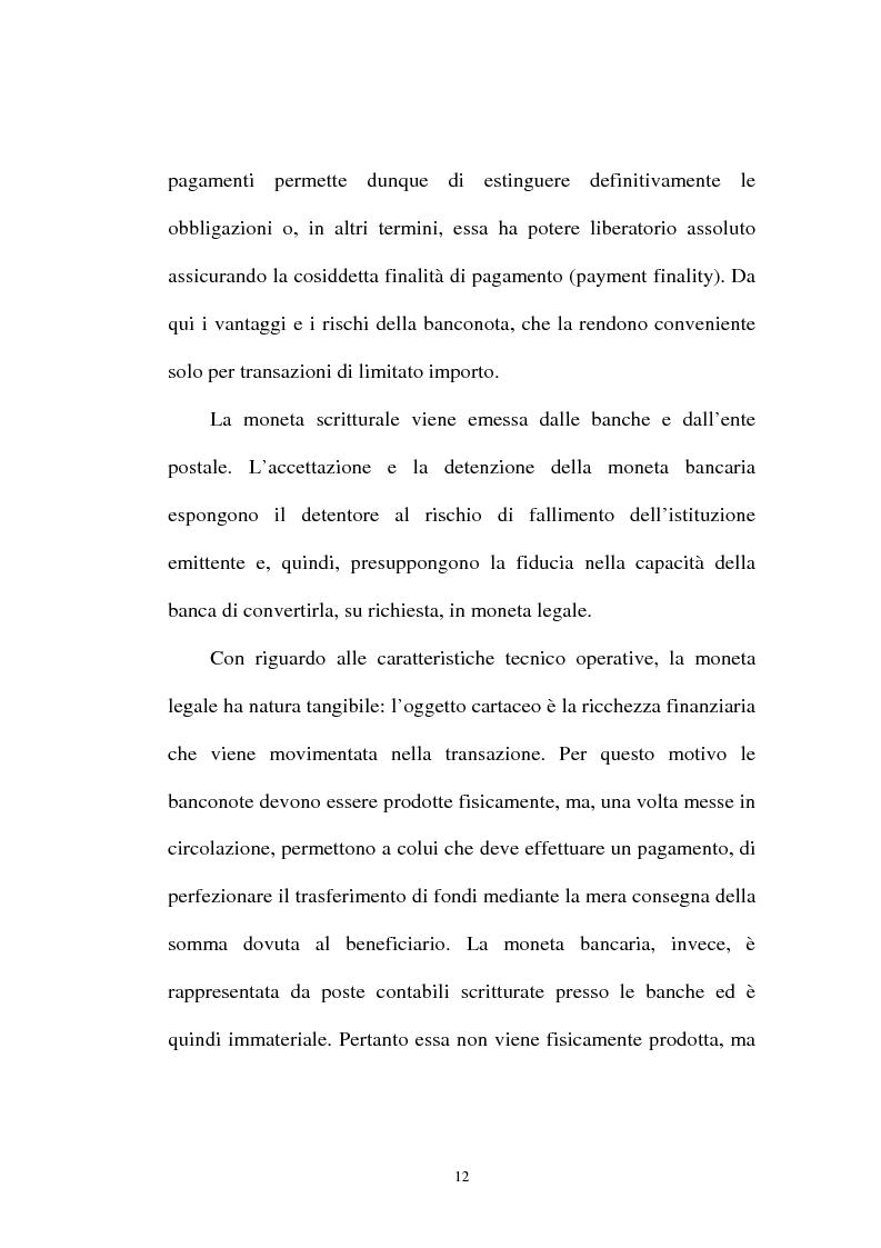Anteprima della tesi: L'integrazione tra il sistema bancario e il sistema postale nell'offerta di servizi di pagamento, Pagina 7