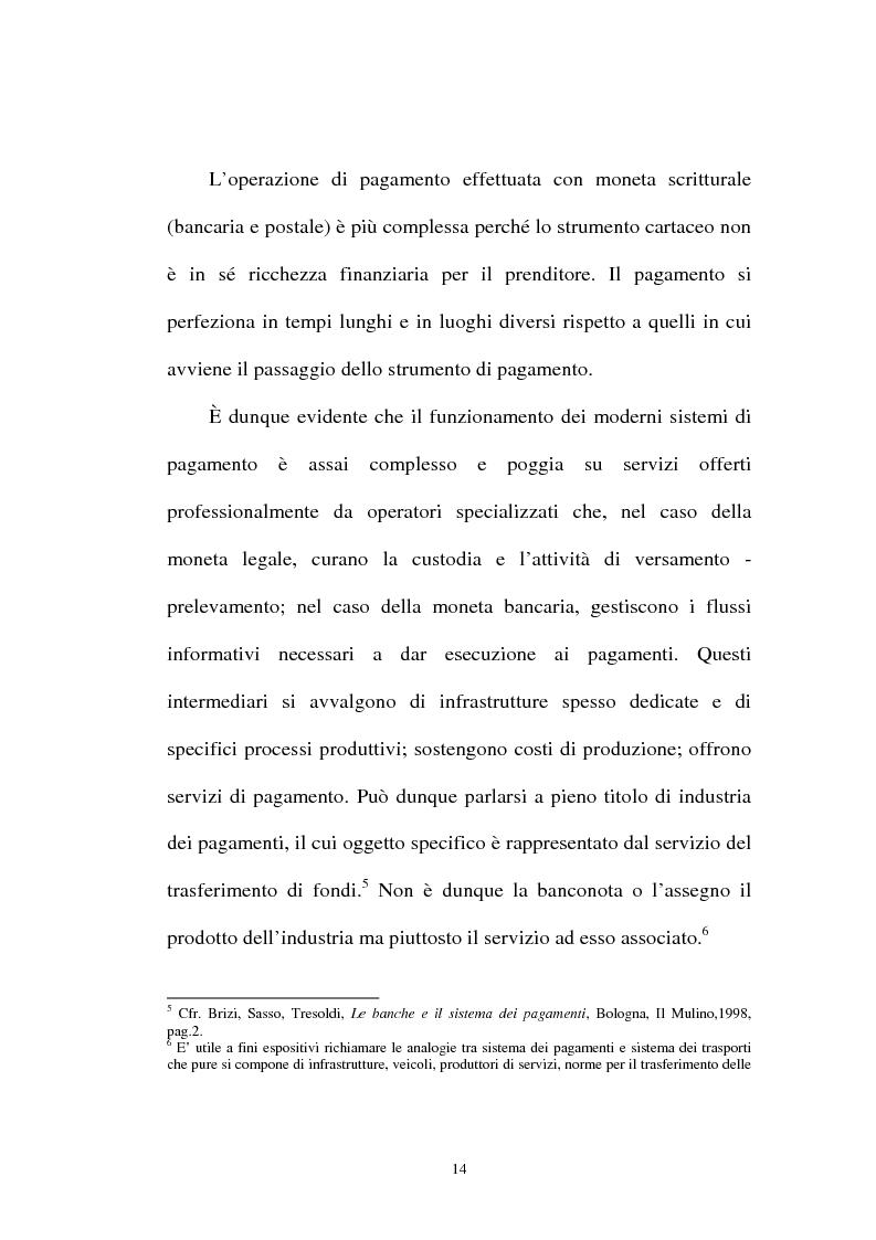 Anteprima della tesi: L'integrazione tra il sistema bancario e il sistema postale nell'offerta di servizi di pagamento, Pagina 9