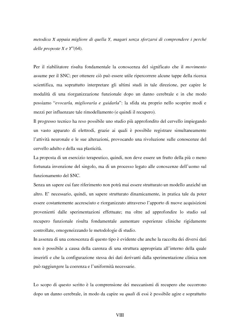 Anteprima della tesi: La riorganizzazione corticale nel cerebroleso indotta da un training riabilitativo, Pagina 3