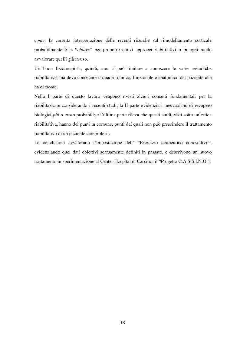 Anteprima della tesi: La riorganizzazione corticale nel cerebroleso indotta da un training riabilitativo, Pagina 4
