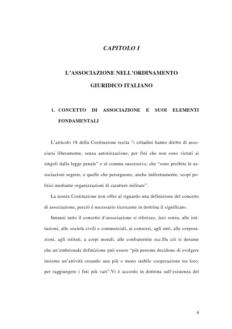 Anteprima della tesi: L'associazione sovversiva, Pagina 1