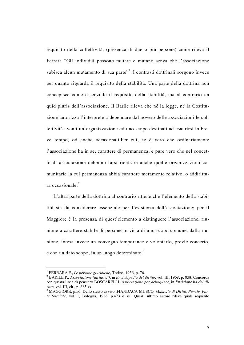 Anteprima della tesi: L'associazione sovversiva, Pagina 2