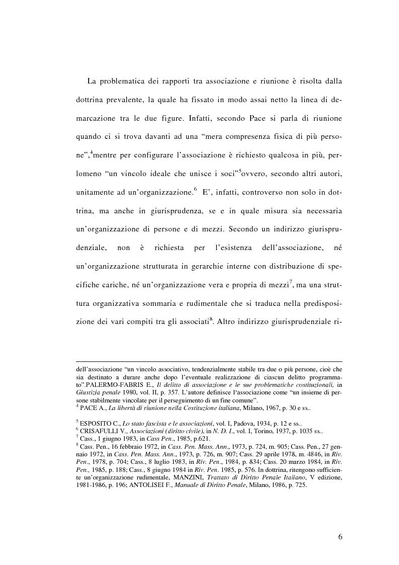 Anteprima della tesi: L'associazione sovversiva, Pagina 3