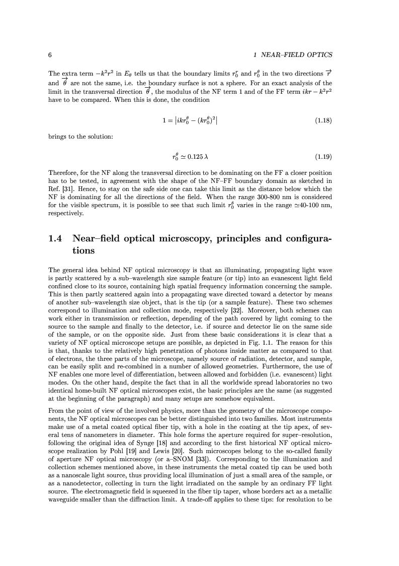 Anteprima della tesi: Near-Field Optics of Localized Surface Plasmons, Pagina 8