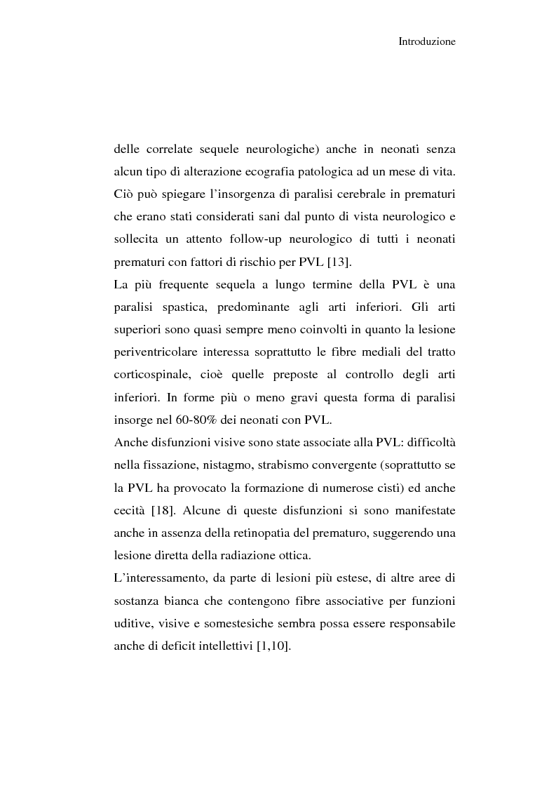 Anteprima della tesi: Diagnosi e prognosi nel neonato pretermine con iperecogenicità patologica all'ecografia cerebrale: studio della motilità spontanea con videoregistrazioni, Pagina 12