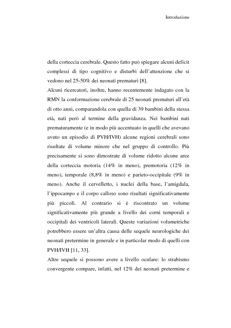 Anteprima della tesi: Diagnosi e prognosi nel neonato pretermine con iperecogenicità patologica all'ecografia cerebrale: studio della motilità spontanea con videoregistrazioni, Pagina 16