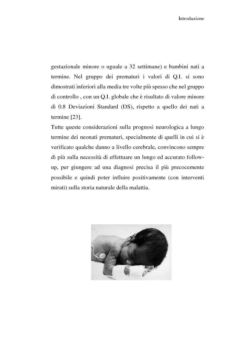 Anteprima della tesi: Diagnosi e prognosi nel neonato pretermine con iperecogenicità patologica all'ecografia cerebrale: studio della motilità spontanea con videoregistrazioni, Pagina 18