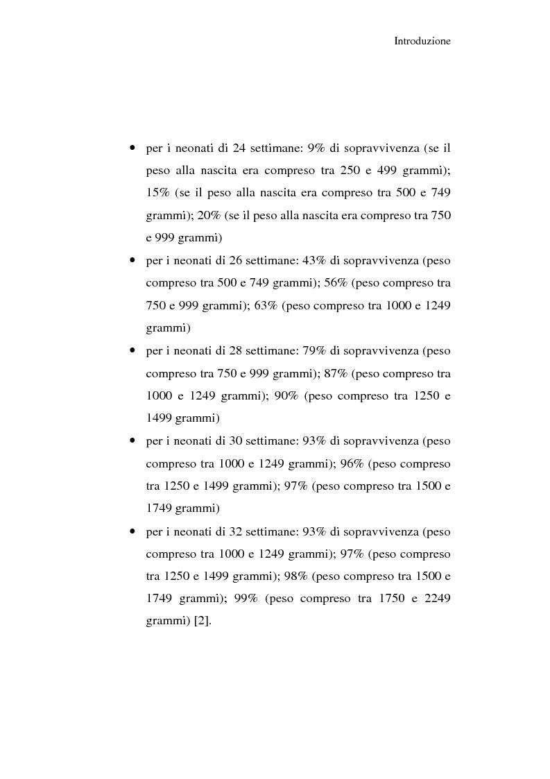Anteprima della tesi: Diagnosi e prognosi nel neonato pretermine con iperecogenicità patologica all'ecografia cerebrale: studio della motilità spontanea con videoregistrazioni, Pagina 2