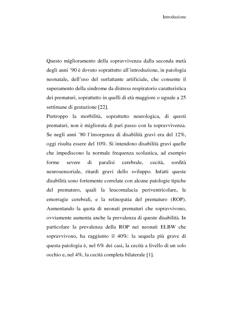 Anteprima della tesi: Diagnosi e prognosi nel neonato pretermine con iperecogenicità patologica all'ecografia cerebrale: studio della motilità spontanea con videoregistrazioni, Pagina 3