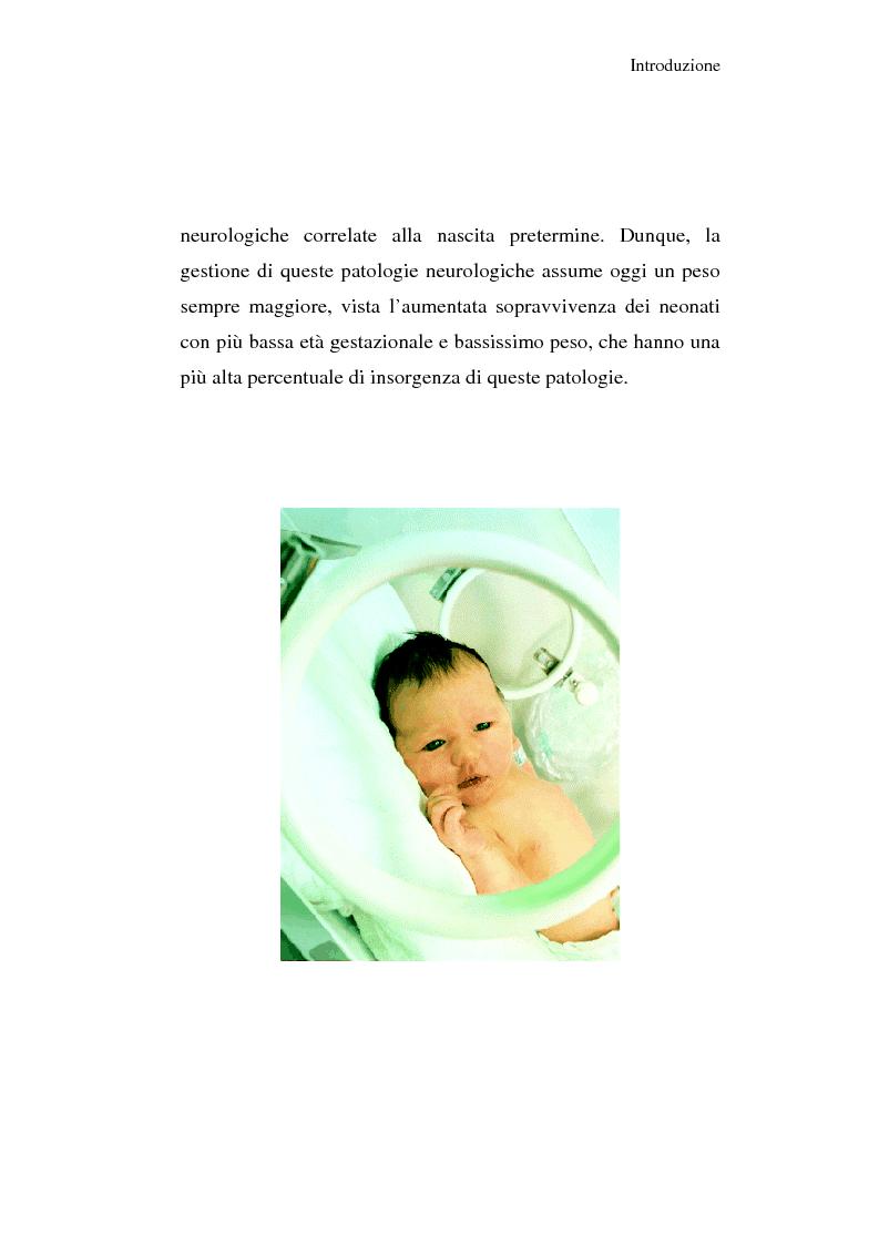 Anteprima della tesi: Diagnosi e prognosi nel neonato pretermine con iperecogenicità patologica all'ecografia cerebrale: studio della motilità spontanea con videoregistrazioni, Pagina 5