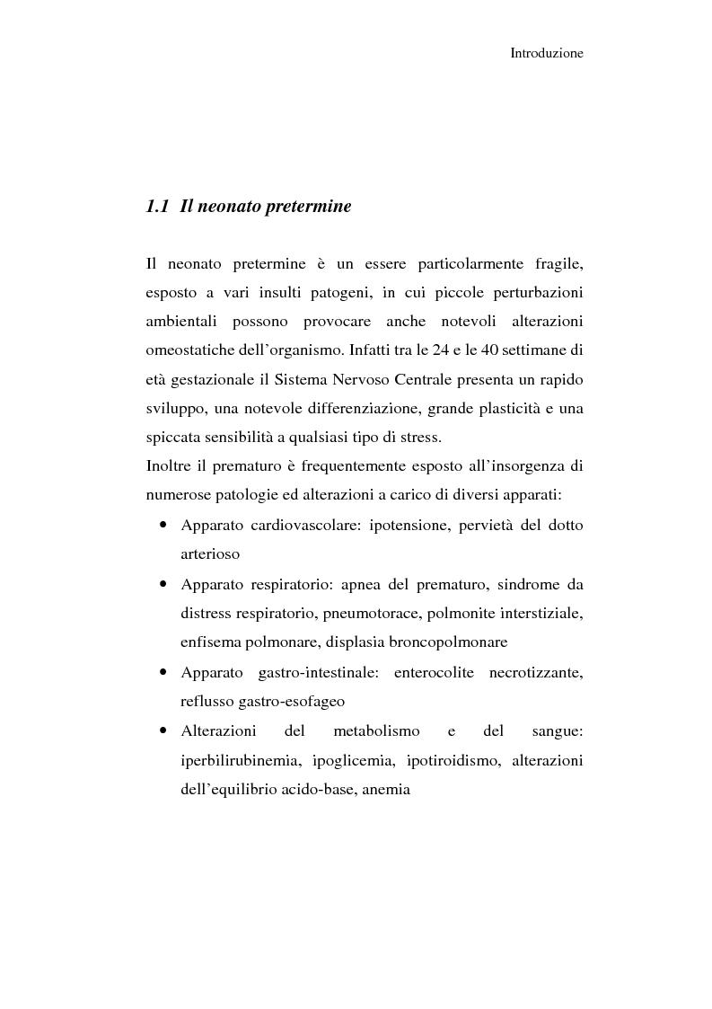 Anteprima della tesi: Diagnosi e prognosi nel neonato pretermine con iperecogenicità patologica all'ecografia cerebrale: studio della motilità spontanea con videoregistrazioni, Pagina 6