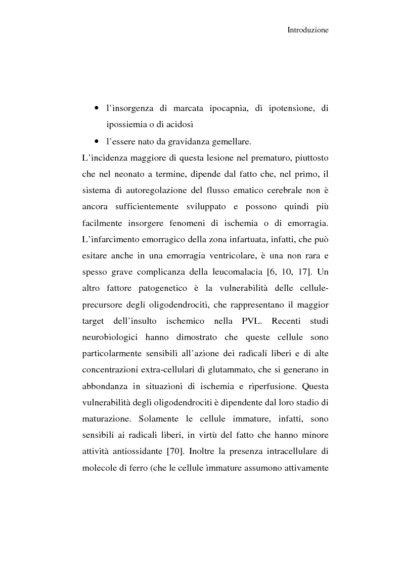 Anteprima della tesi: Diagnosi e prognosi nel neonato pretermine con iperecogenicità patologica all'ecografia cerebrale: studio della motilità spontanea con videoregistrazioni, Pagina 9