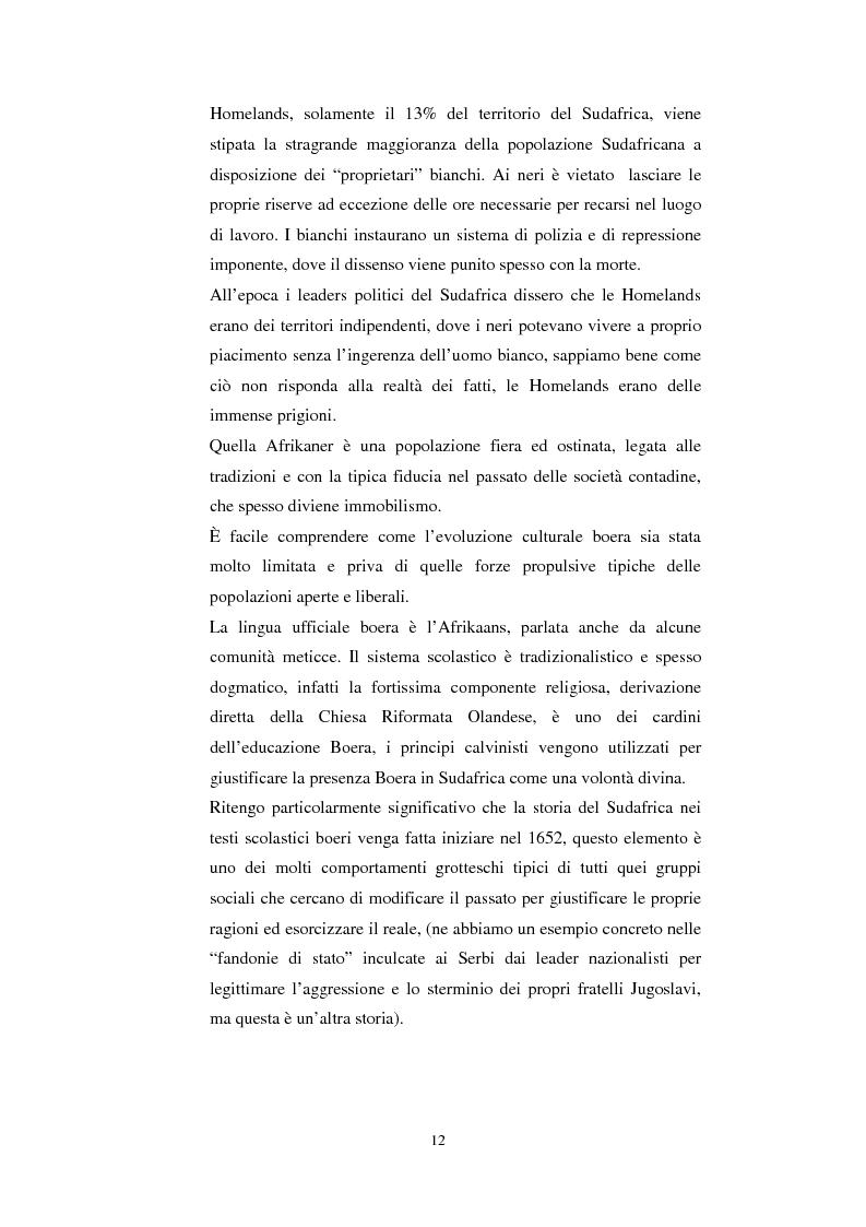 Anteprima della tesi: La questione della terra in Sudafrica 1990-1996: ridistribuzione della terra correlata alla percezione Afrikaner del fenomeno, Pagina 12