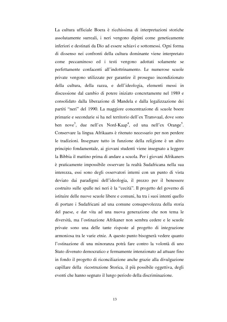 Anteprima della tesi: La questione della terra in Sudafrica 1990-1996: ridistribuzione della terra correlata alla percezione Afrikaner del fenomeno, Pagina 13