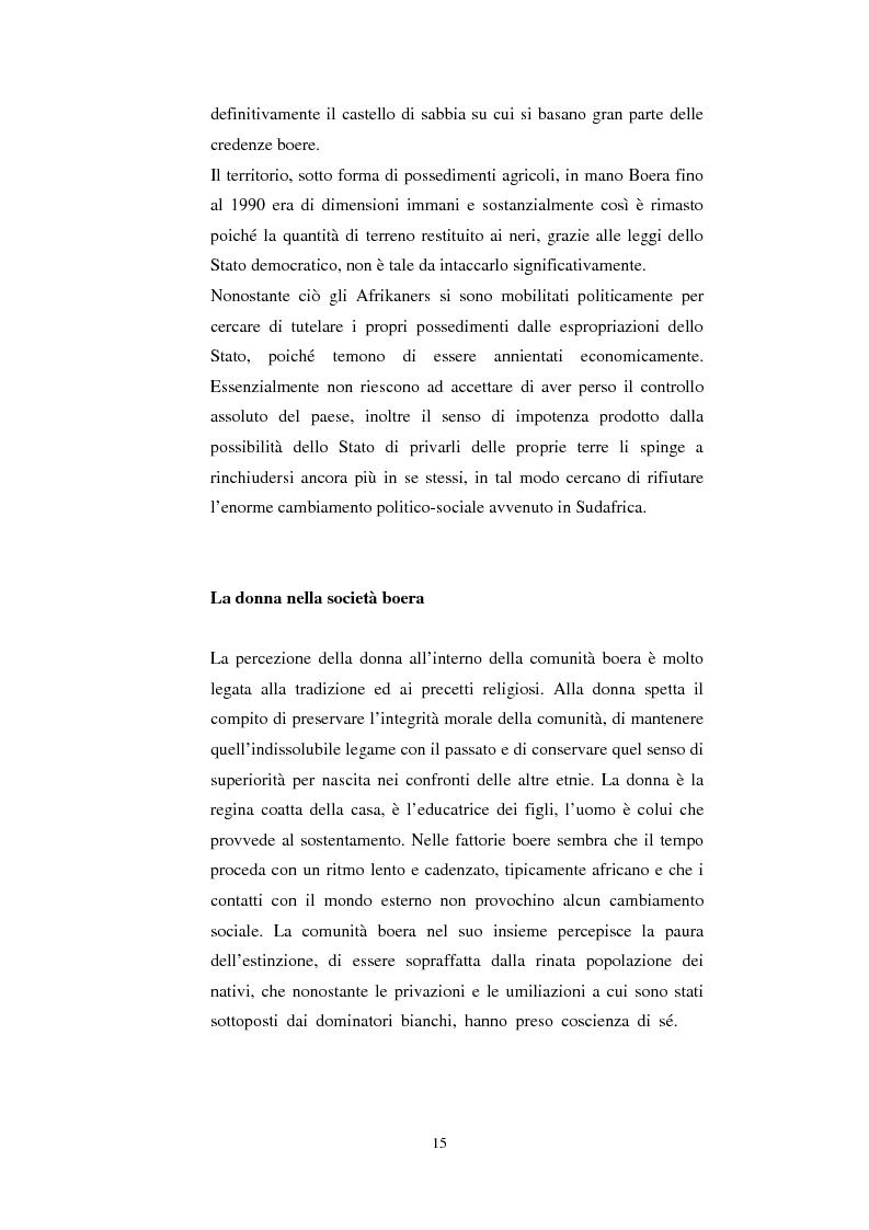 Anteprima della tesi: La questione della terra in Sudafrica 1990-1996: ridistribuzione della terra correlata alla percezione Afrikaner del fenomeno, Pagina 15