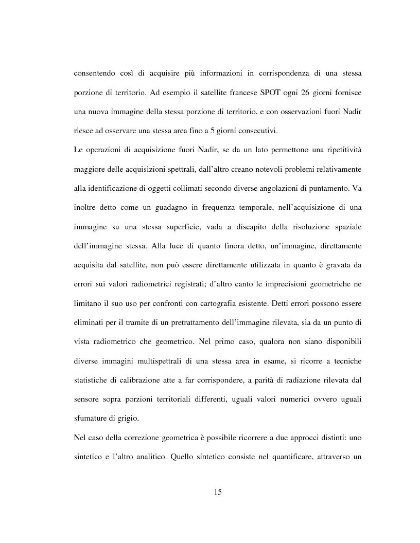 Anteprima della tesi: Generazione di un DTM da immagini telerilevate per l'applicazione di modelli idrologici afflussi-deflussi e definizione di aree perifluvialli a rischio di inondazione, Pagina 11