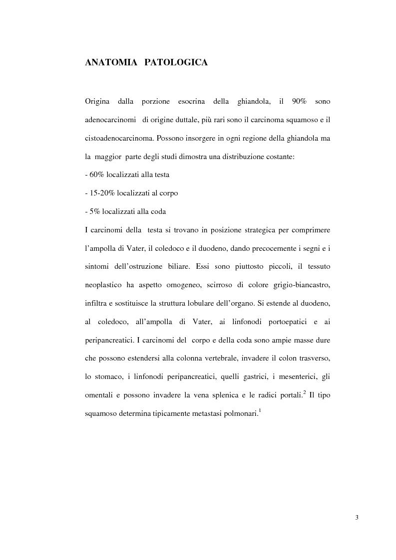 Anteprima della tesi: Nuove prospettive di trattamento combinato del carcinoma del pancreas inoperabile o recidivo, Pagina 2
