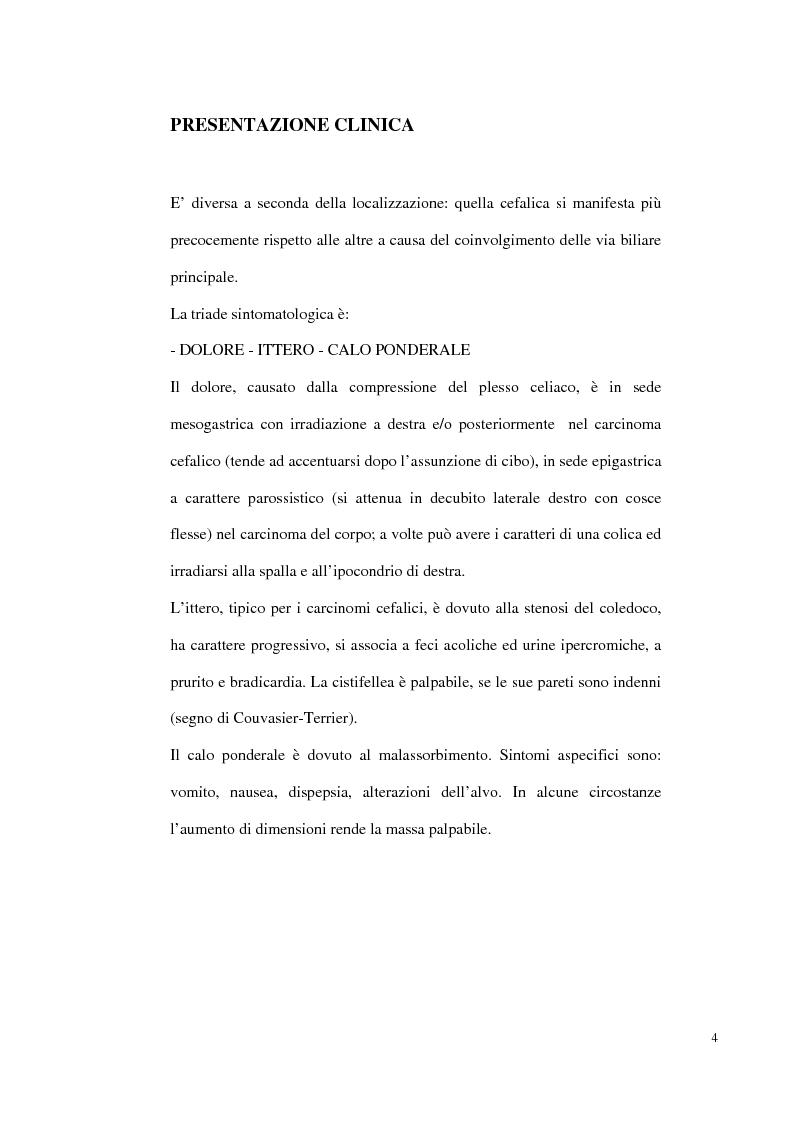 Anteprima della tesi: Nuove prospettive di trattamento combinato del carcinoma del pancreas inoperabile o recidivo, Pagina 3