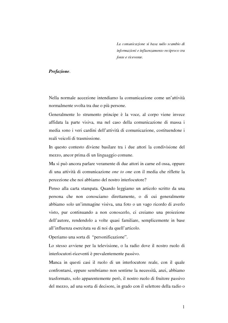 Anteprima della tesi: Il cellulare come media della comunicazione: in principio era solo voce, Pagina 1