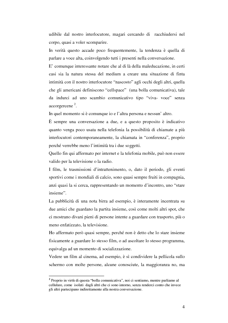 Anteprima della tesi: Il cellulare come media della comunicazione: in principio era solo voce, Pagina 4