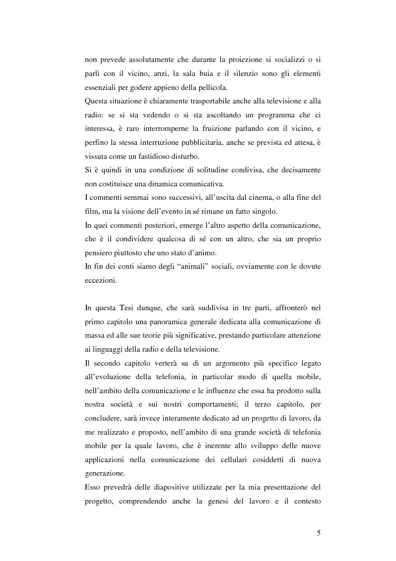 Anteprima della tesi: Il cellulare come media della comunicazione: in principio era solo voce, Pagina 5