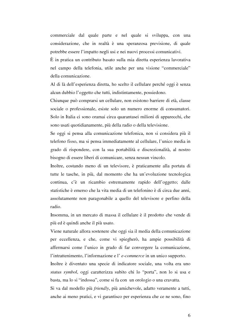Anteprima della tesi: Il cellulare come media della comunicazione: in principio era solo voce, Pagina 6