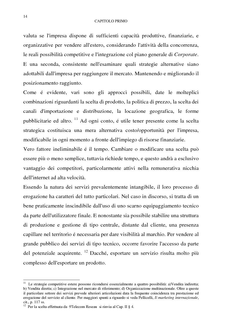 Anteprima della tesi: Gestione del multibusiness in Telecom Italia: l'internet ad alta velocità. Il caso 9 Telecom, Pagina 10