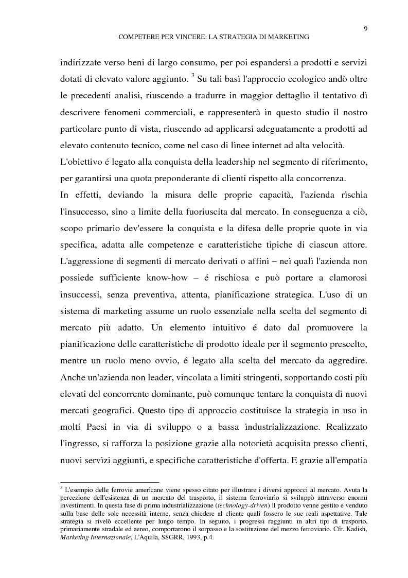 Anteprima della tesi: Gestione del multibusiness in Telecom Italia: l'internet ad alta velocità. Il caso 9 Telecom, Pagina 5