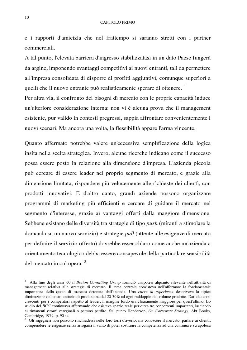 Anteprima della tesi: Gestione del multibusiness in Telecom Italia: l'internet ad alta velocità. Il caso 9 Telecom, Pagina 6