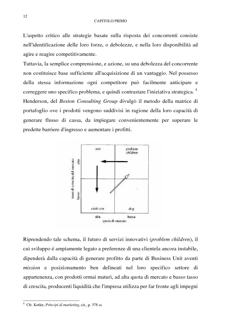 Anteprima della tesi: Gestione del multibusiness in Telecom Italia: l'internet ad alta velocità. Il caso 9 Telecom, Pagina 8