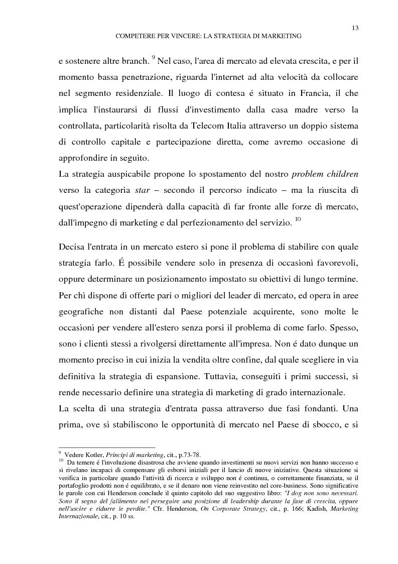 Anteprima della tesi: Gestione del multibusiness in Telecom Italia: l'internet ad alta velocità. Il caso 9 Telecom, Pagina 9