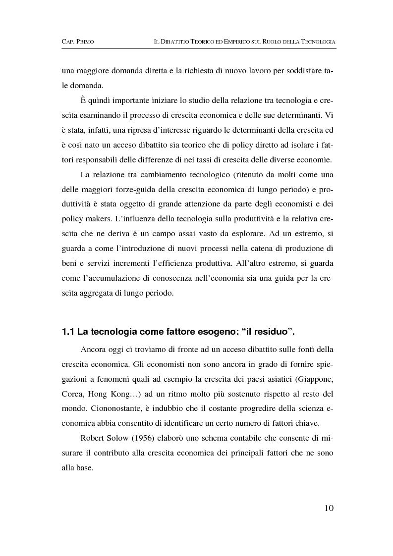 Anteprima della tesi: Information & communication technologies, liberalizzazione dei mercati finanziari e crescita economica, Pagina 10