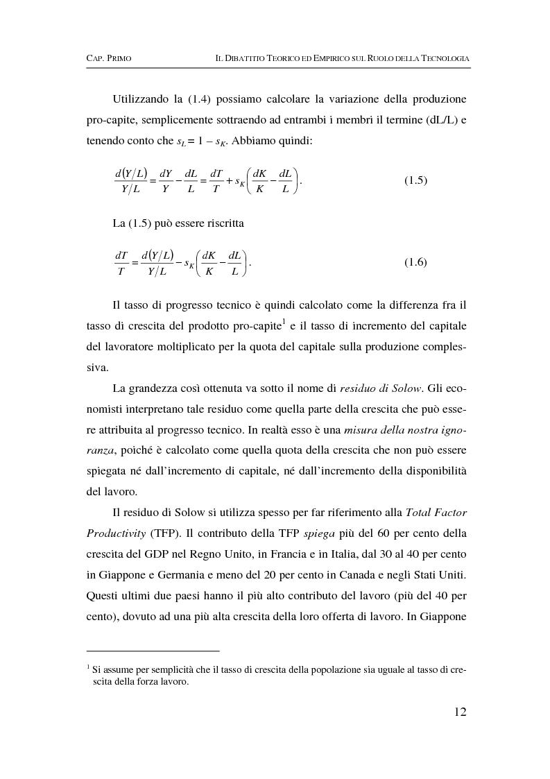 Anteprima della tesi: Information & communication technologies, liberalizzazione dei mercati finanziari e crescita economica, Pagina 12