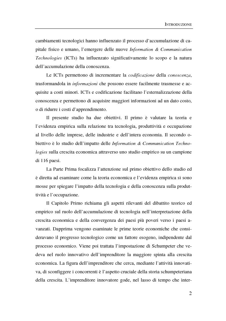 Anteprima della tesi: Information & communication technologies, liberalizzazione dei mercati finanziari e crescita economica, Pagina 2