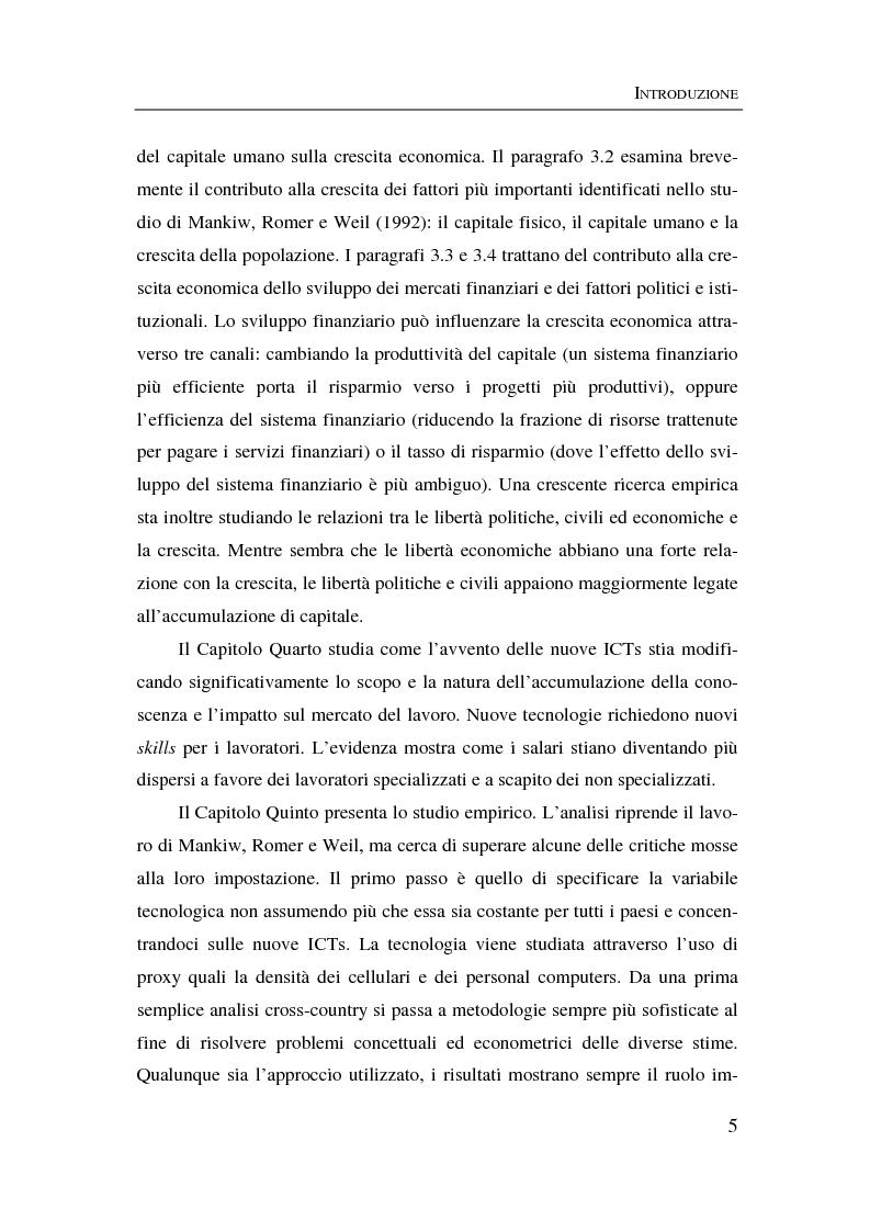 Anteprima della tesi: Information & communication technologies, liberalizzazione dei mercati finanziari e crescita economica, Pagina 5