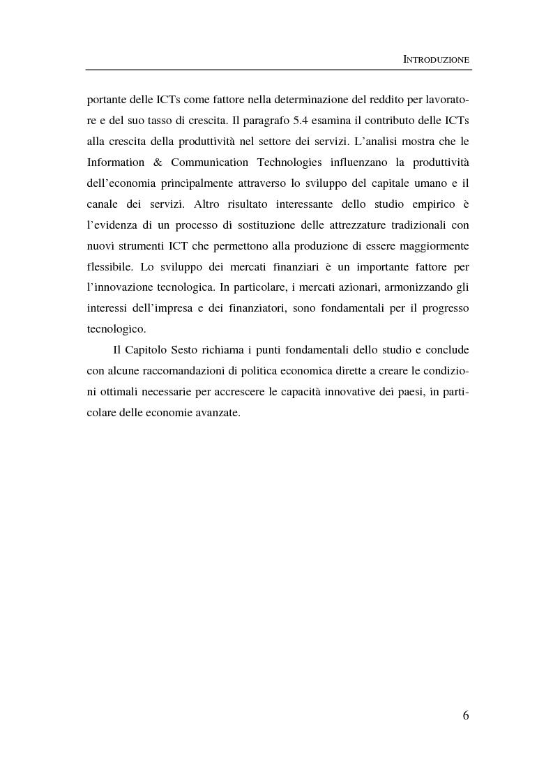 Anteprima della tesi: Information & communication technologies, liberalizzazione dei mercati finanziari e crescita economica, Pagina 6