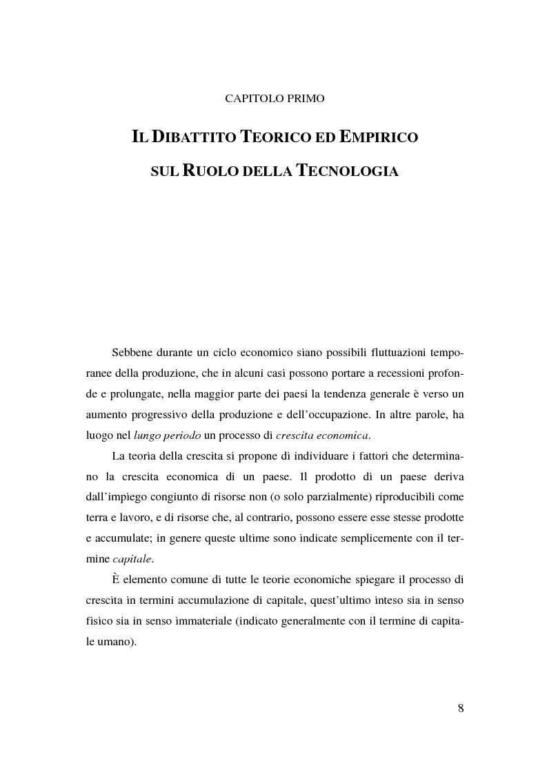 Anteprima della tesi: Information & communication technologies, liberalizzazione dei mercati finanziari e crescita economica, Pagina 8