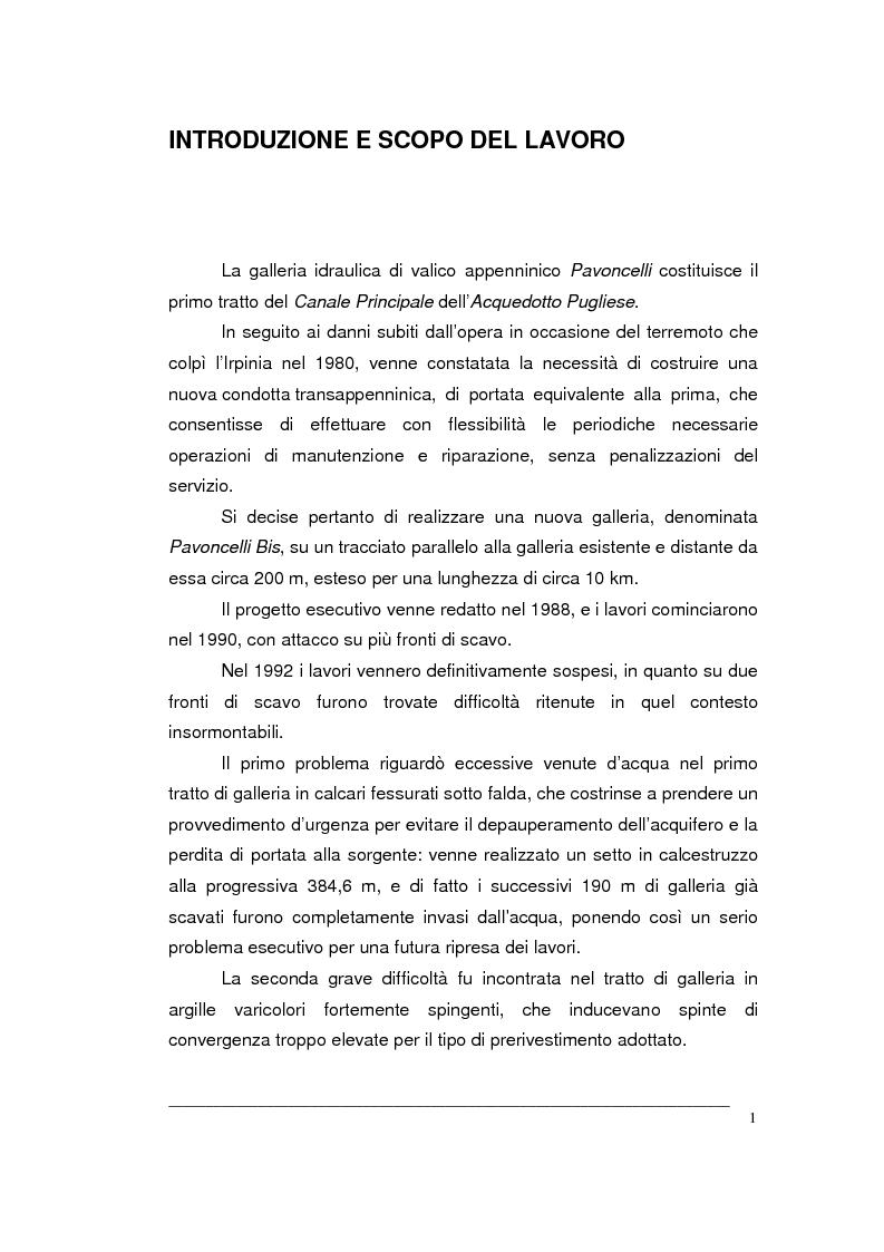 Anteprima della tesi: Creazione di un Gis per la caratterizzazione di un ammasso roccioso per la progettazione di una grande opera sotterranea, Pagina 1
