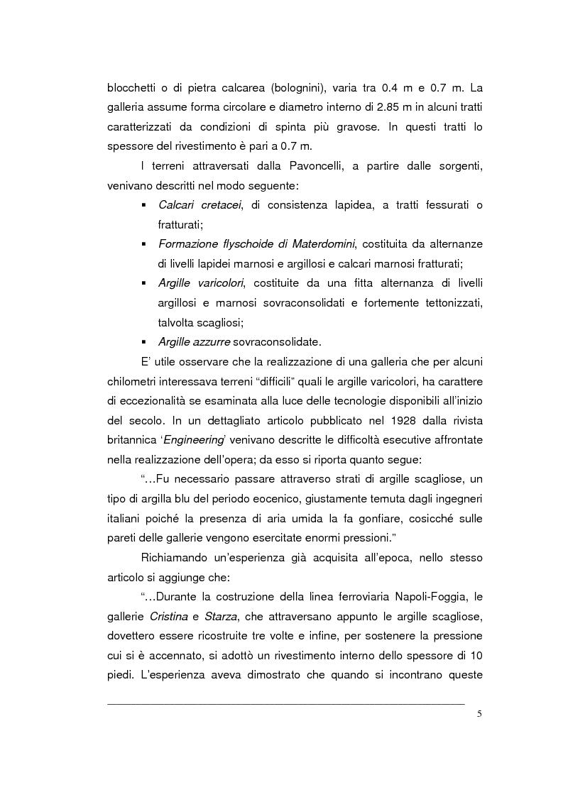 Anteprima della tesi: Creazione di un Gis per la caratterizzazione di un ammasso roccioso per la progettazione di una grande opera sotterranea, Pagina 5