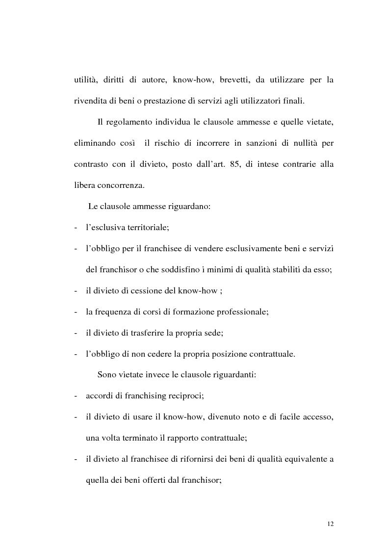 Anteprima della tesi: Franchising e agenzie di viaggio: analisi comparata delle proposte a tutela del franchisee, Pagina 10