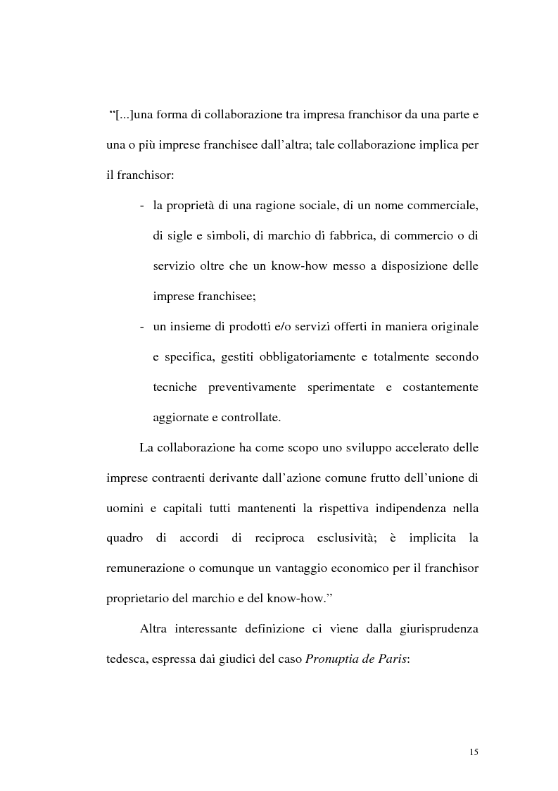 Anteprima della tesi: Franchising e agenzie di viaggio: analisi comparata delle proposte a tutela del franchisee, Pagina 13