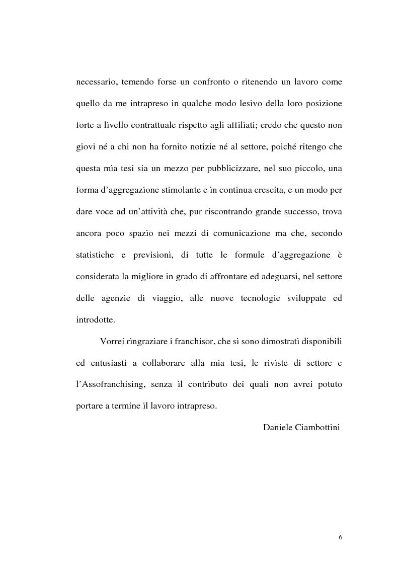 Anteprima della tesi: Franchising e agenzie di viaggio: analisi comparata delle proposte a tutela del franchisee, Pagina 4