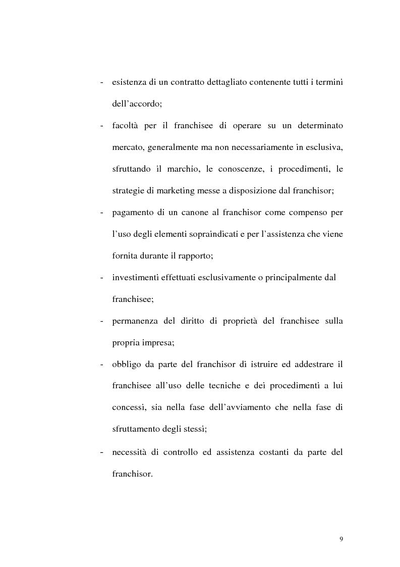 Anteprima della tesi: Franchising e agenzie di viaggio: analisi comparata delle proposte a tutela del franchisee, Pagina 7