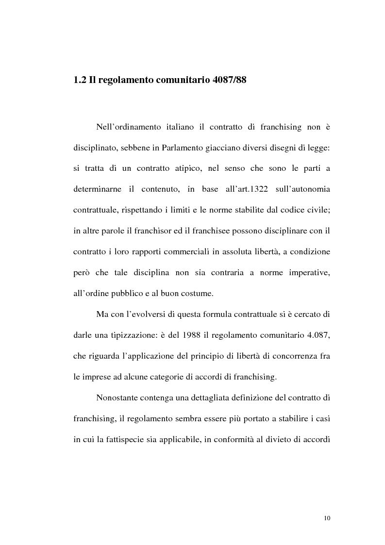 Anteprima della tesi: Franchising e agenzie di viaggio: analisi comparata delle proposte a tutela del franchisee, Pagina 8